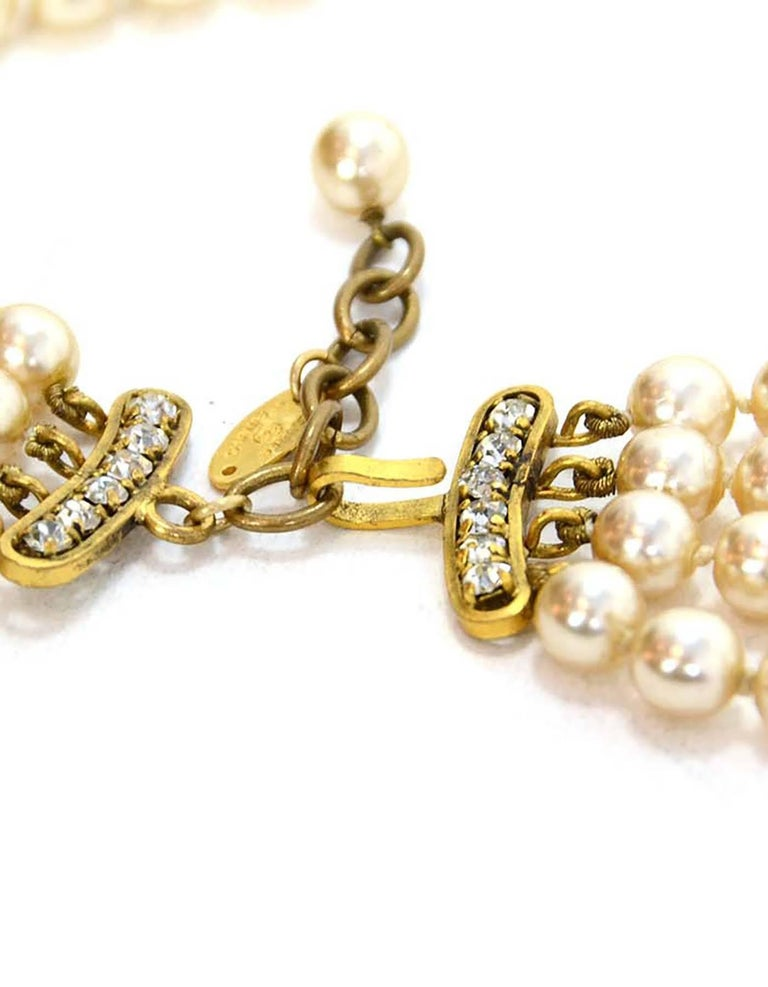 Chanel Vintage '83 Four Strand Pearl Necklace 4