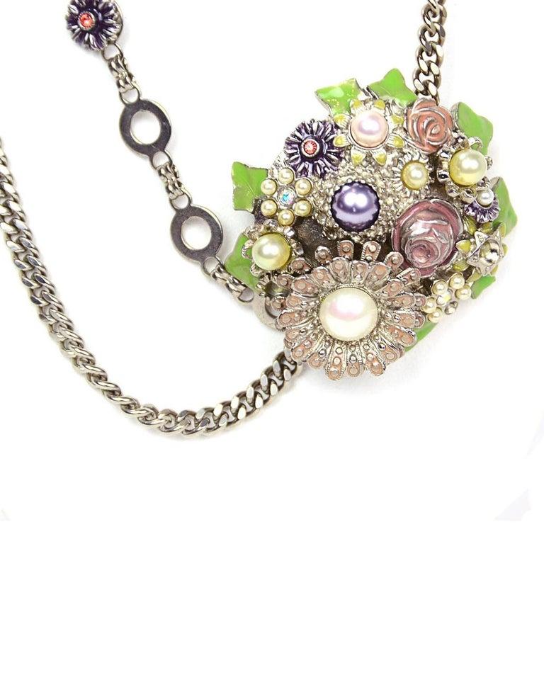 Chanel Silver Flower & CC Chain Belt /Necklace sz L/EU 90 5
