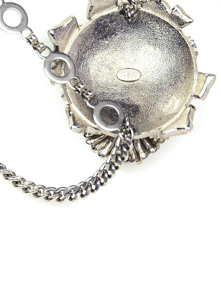 Chanel Silver Flower & CC Chain Belt /Necklace sz L/EU 90 6