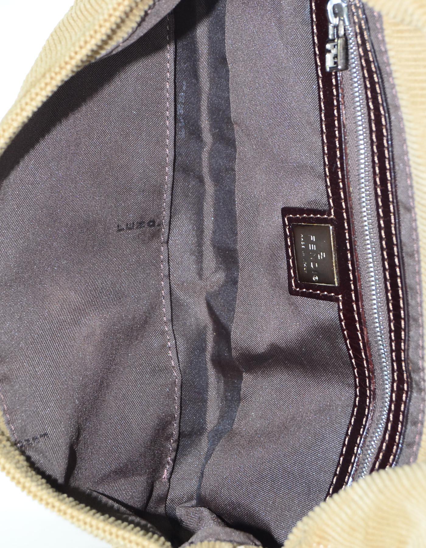 849de26cb8d8 ... Fendi Beige Corduroy Baguette Bag w Silvertone Logo Buckle For Sale at  1stdibs special sales acb47 ...
