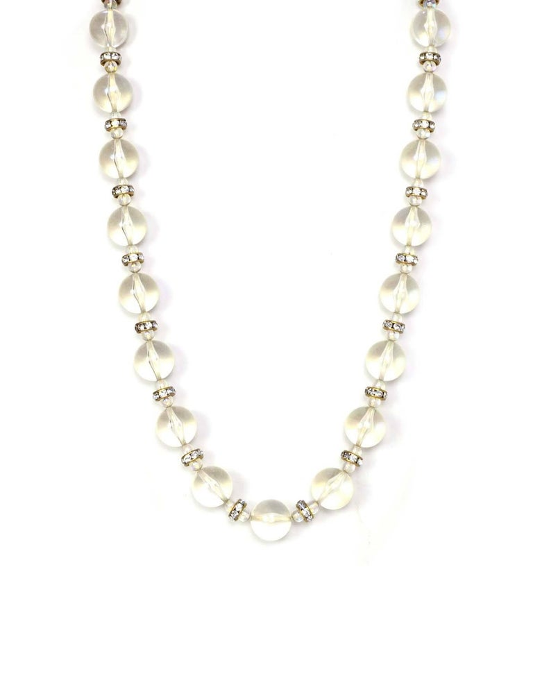 chanel vintage 88 clear bead and necklace for