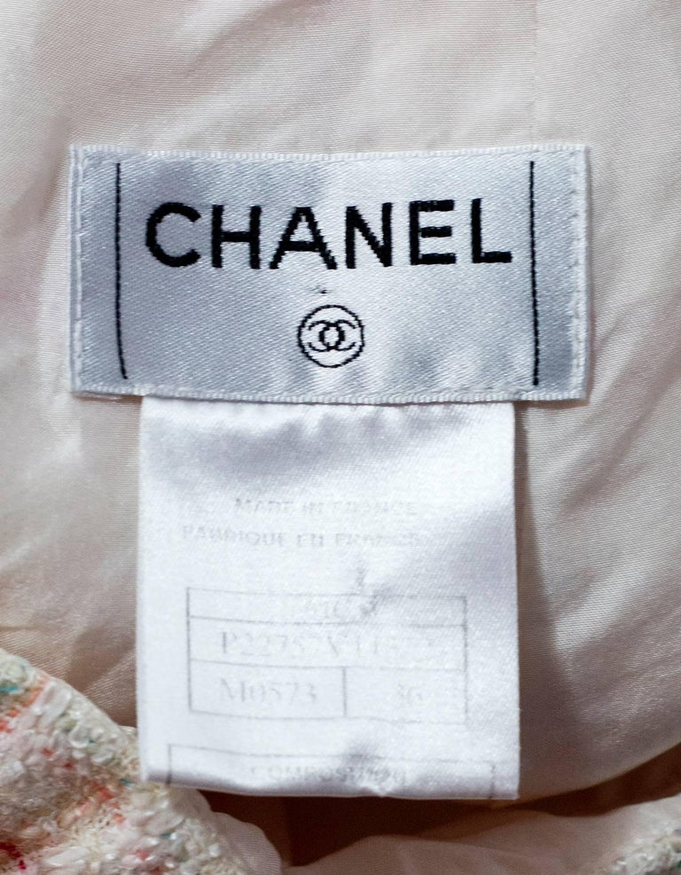 Chanel White Tweed A-Line Skirt sz FR36 4