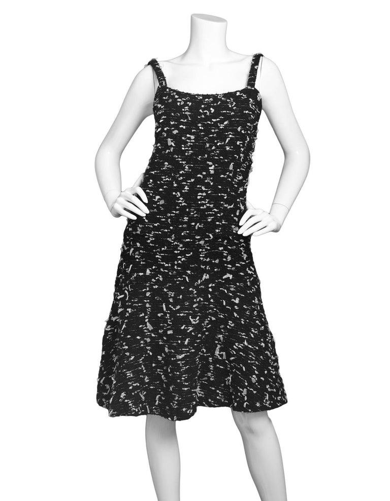 CHANEL Black Tweed Sleeveless Dress sz FR38 2