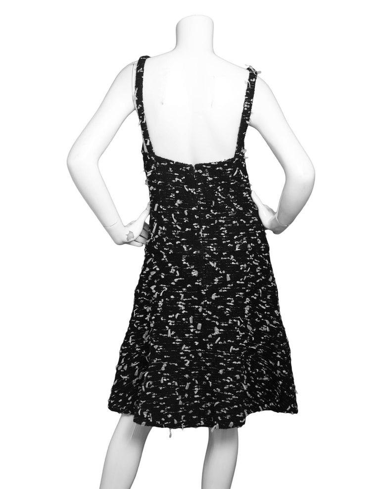 CHANEL Black Tweed Sleeveless Dress sz FR38 3