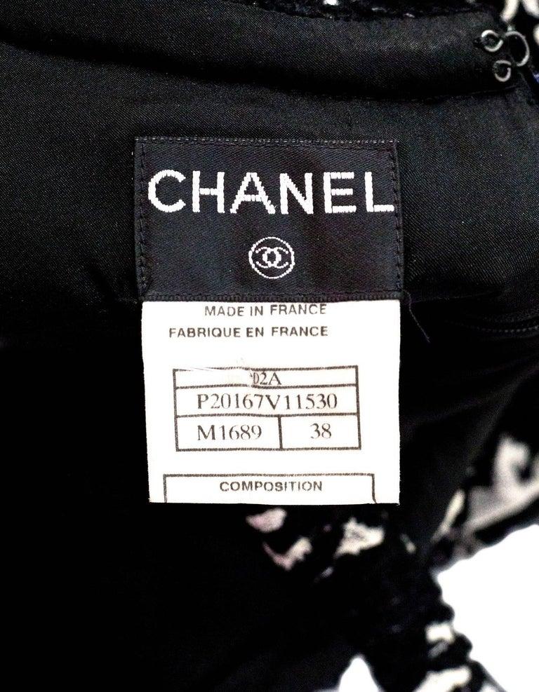 CHANEL Black Tweed Sleeveless Dress sz FR38 4