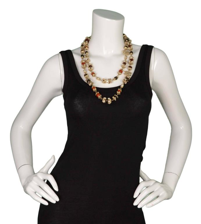 Chanel Multi-Color Bead & Pearl Long Necklace 8