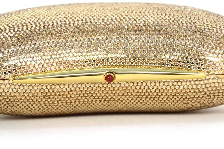 Judith Leiber Bronze Sworovski Crystal Bean Clutch Bag GHW 6