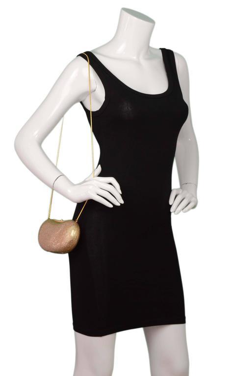 Judith Leiber Bronze Sworovski Crystal Bean Clutch Bag GHW 9