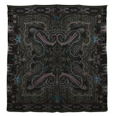 Etro Multi-Colored Paisley & Leopard Print Cashmere Scarf