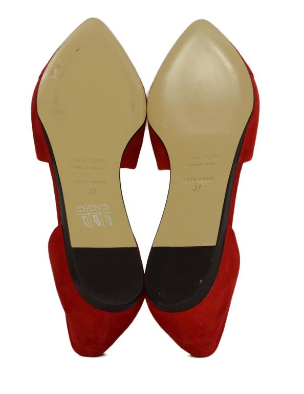 Jenni Kayne Red Suede D'Orsay Flats sz 37 For Sale 3