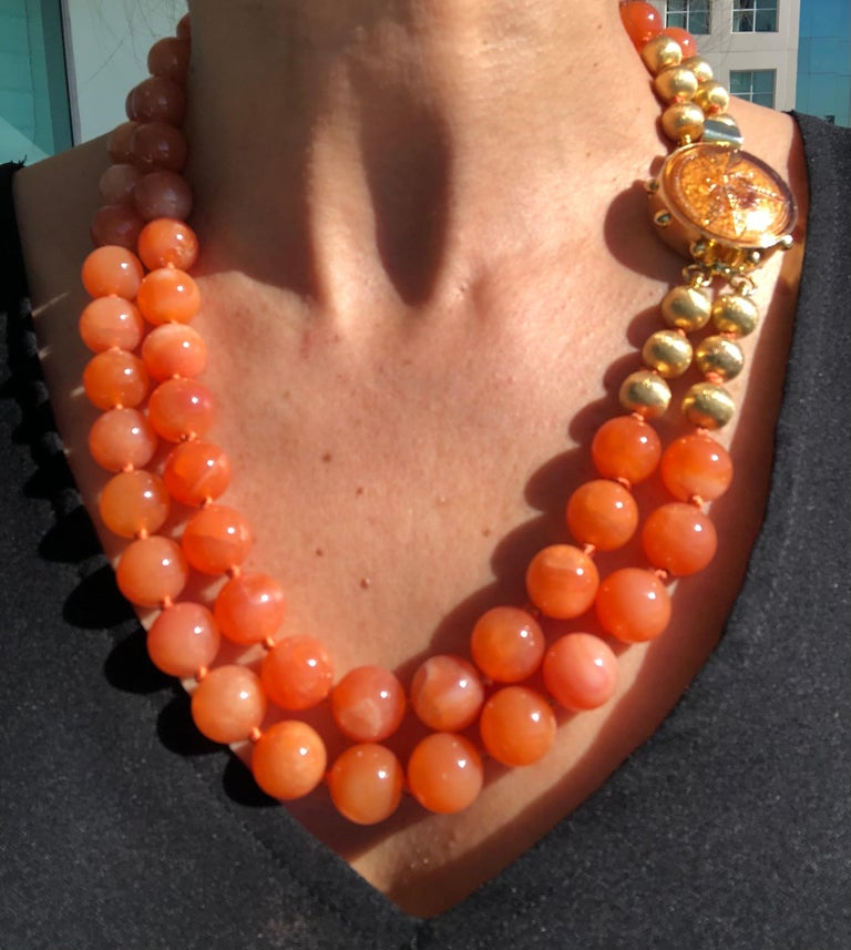 A.Jeschel Natural orange Chalcedony, soft and flattering. For Sale 6
