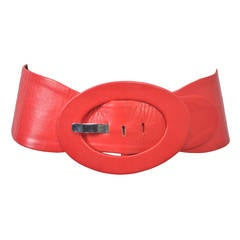 Red Leather Belt, France