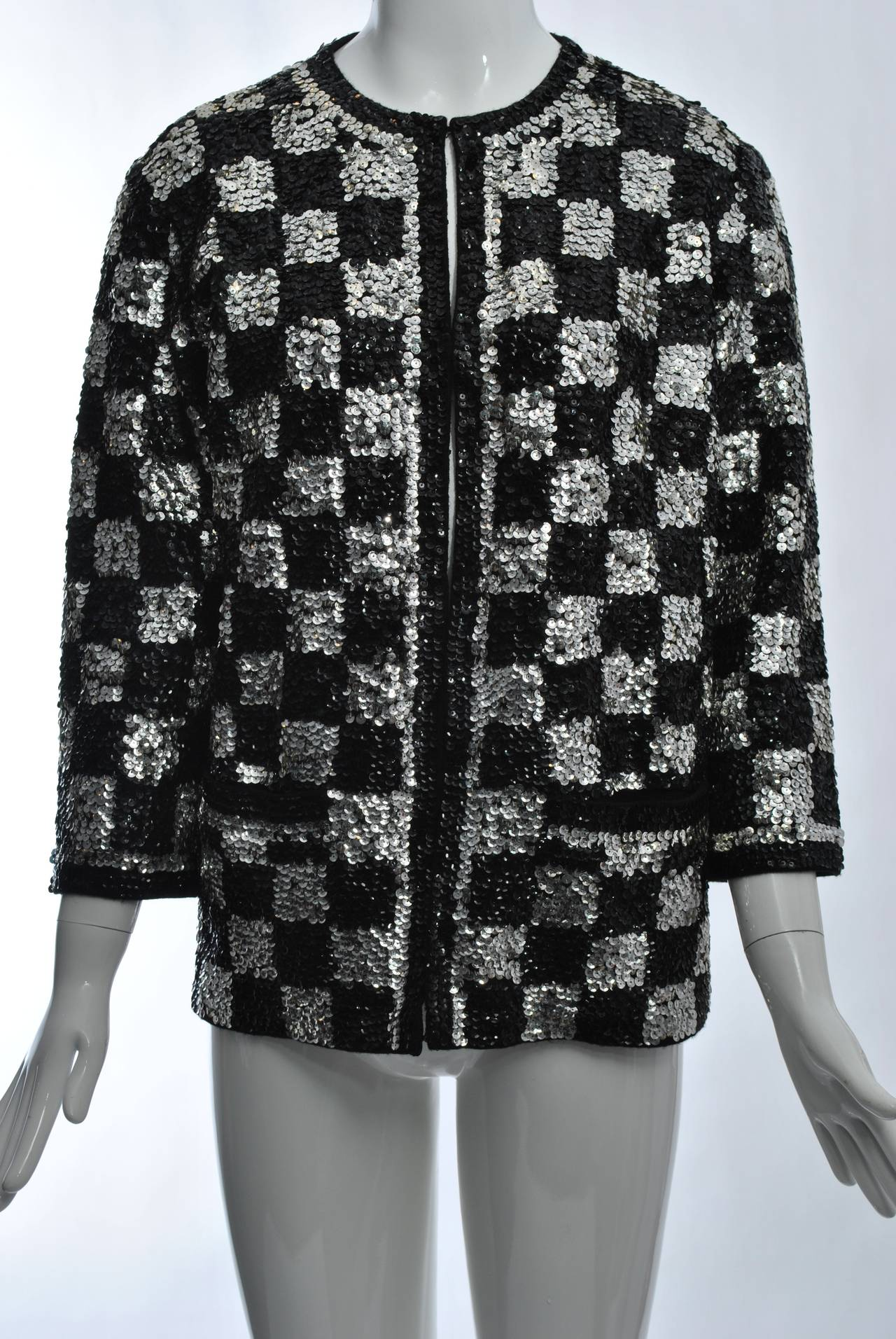 Black/Silver Sequin Cardigan 2