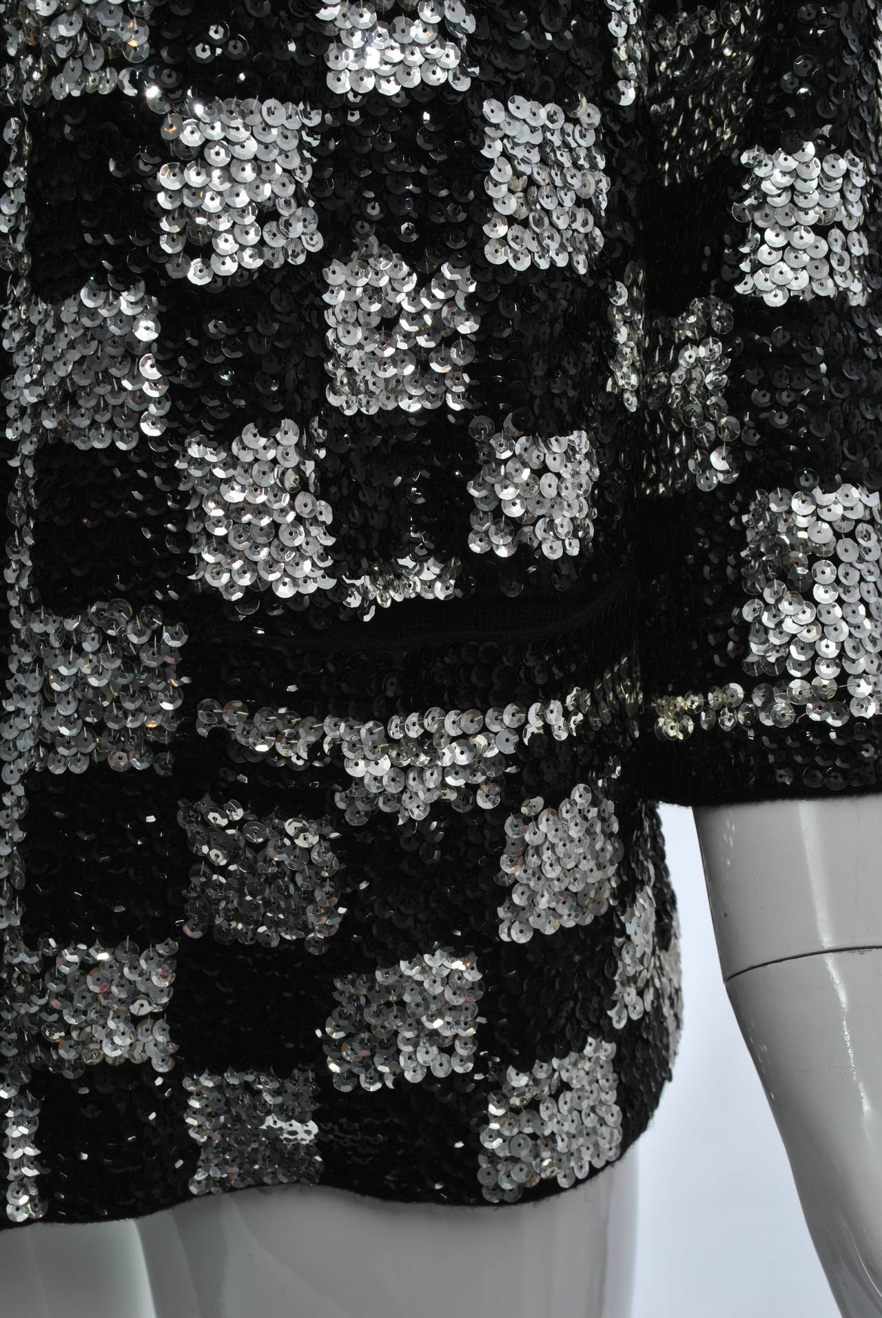 Black/Silver Sequin Cardigan 3