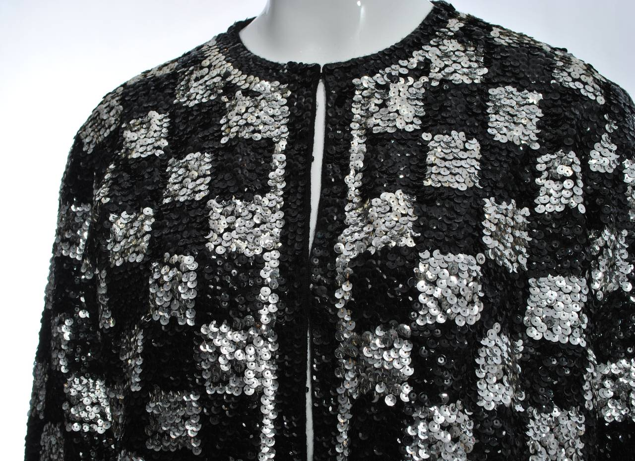 Black/Silver Sequin Cardigan 4