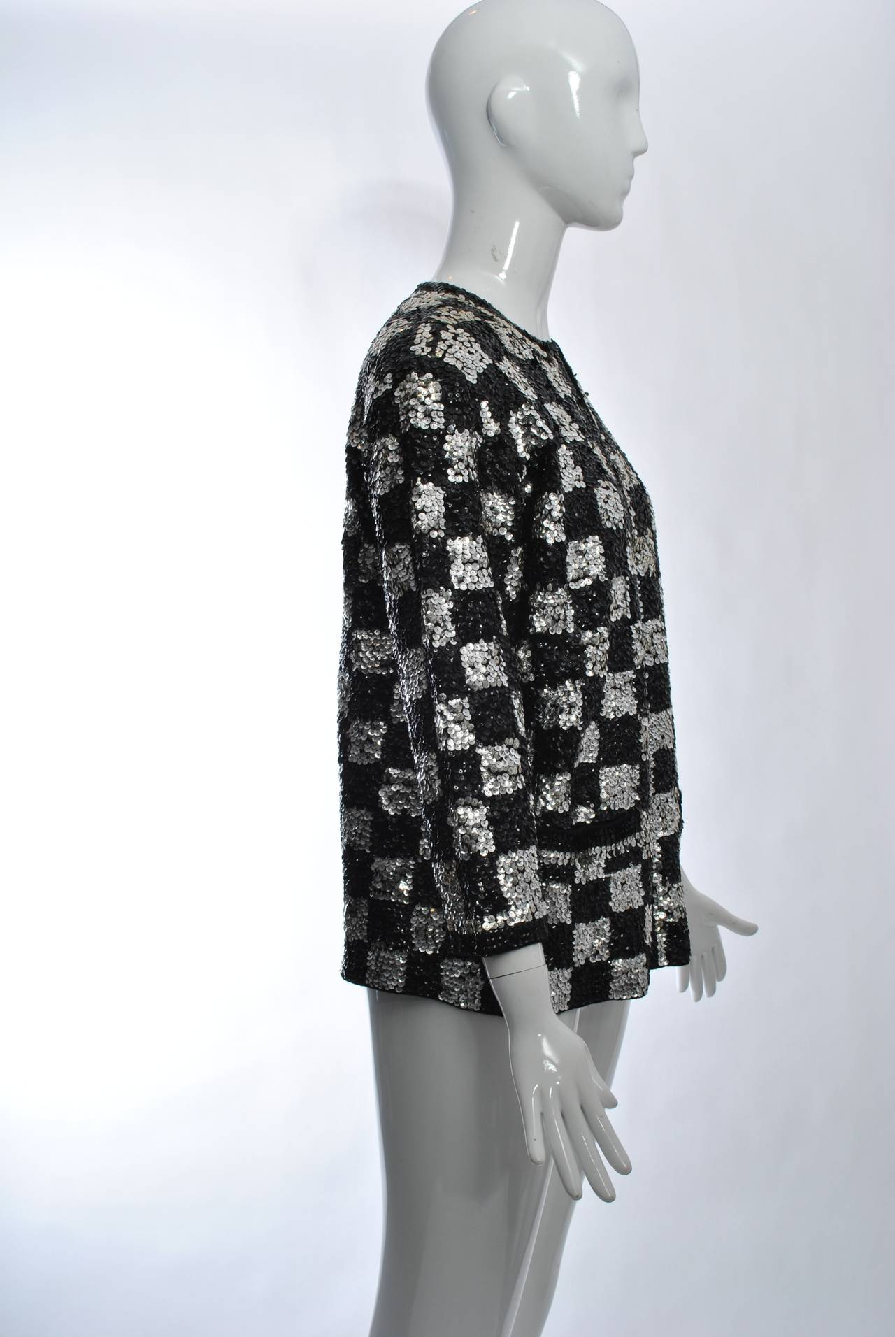 Black/Silver Sequin Cardigan 5