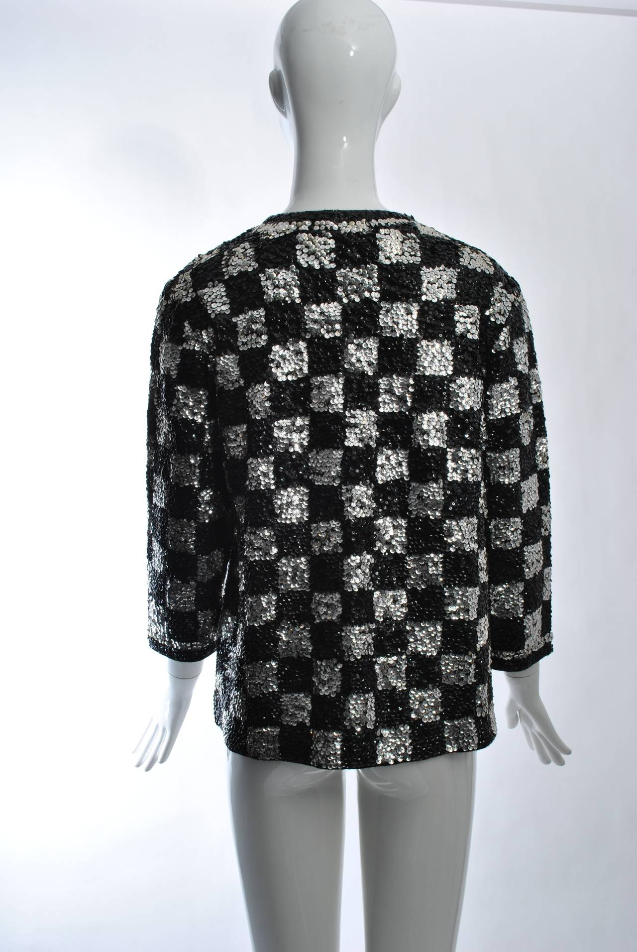 Black/Silver Sequin Cardigan 6