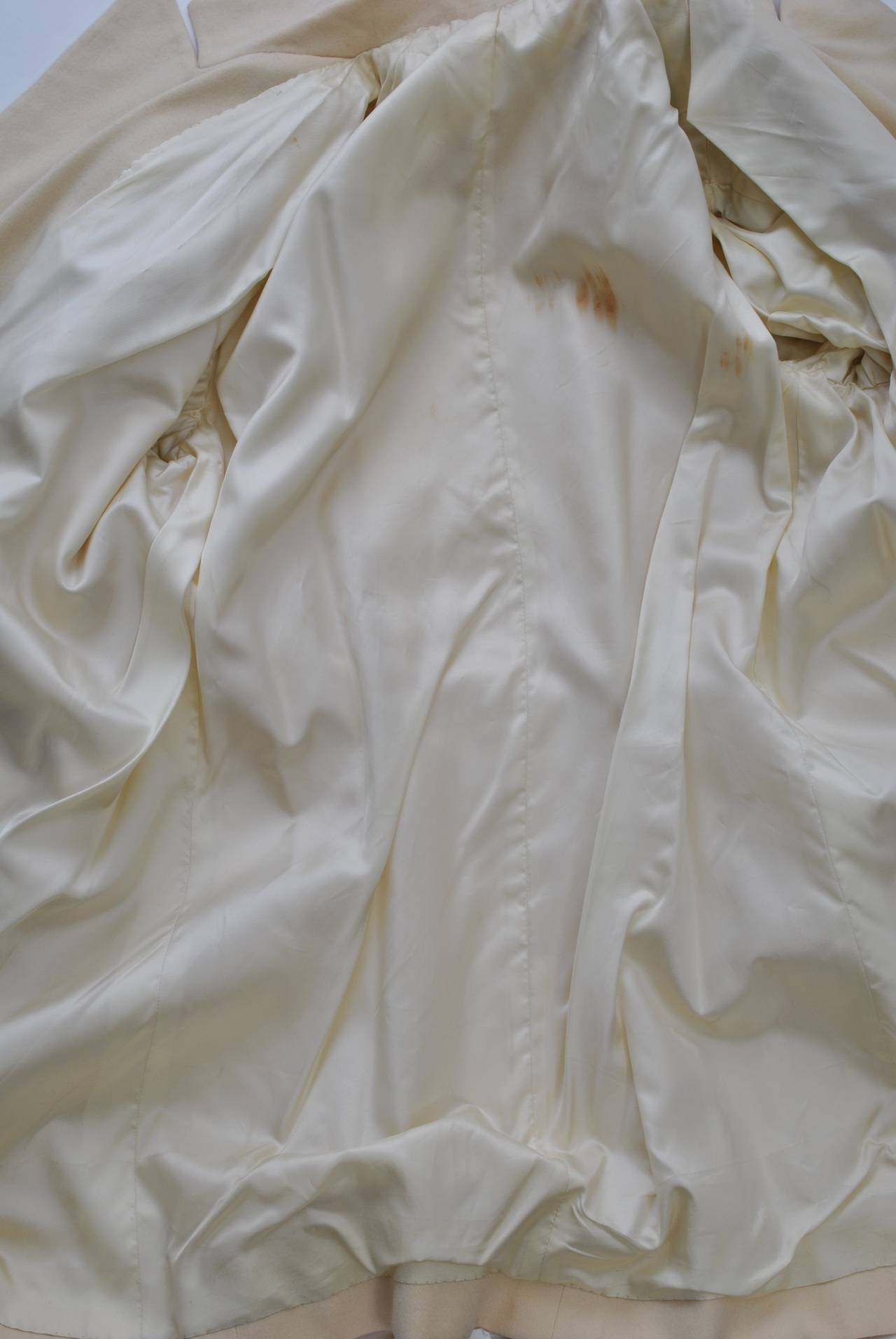 1940s White Wool Jacket For Sale 2