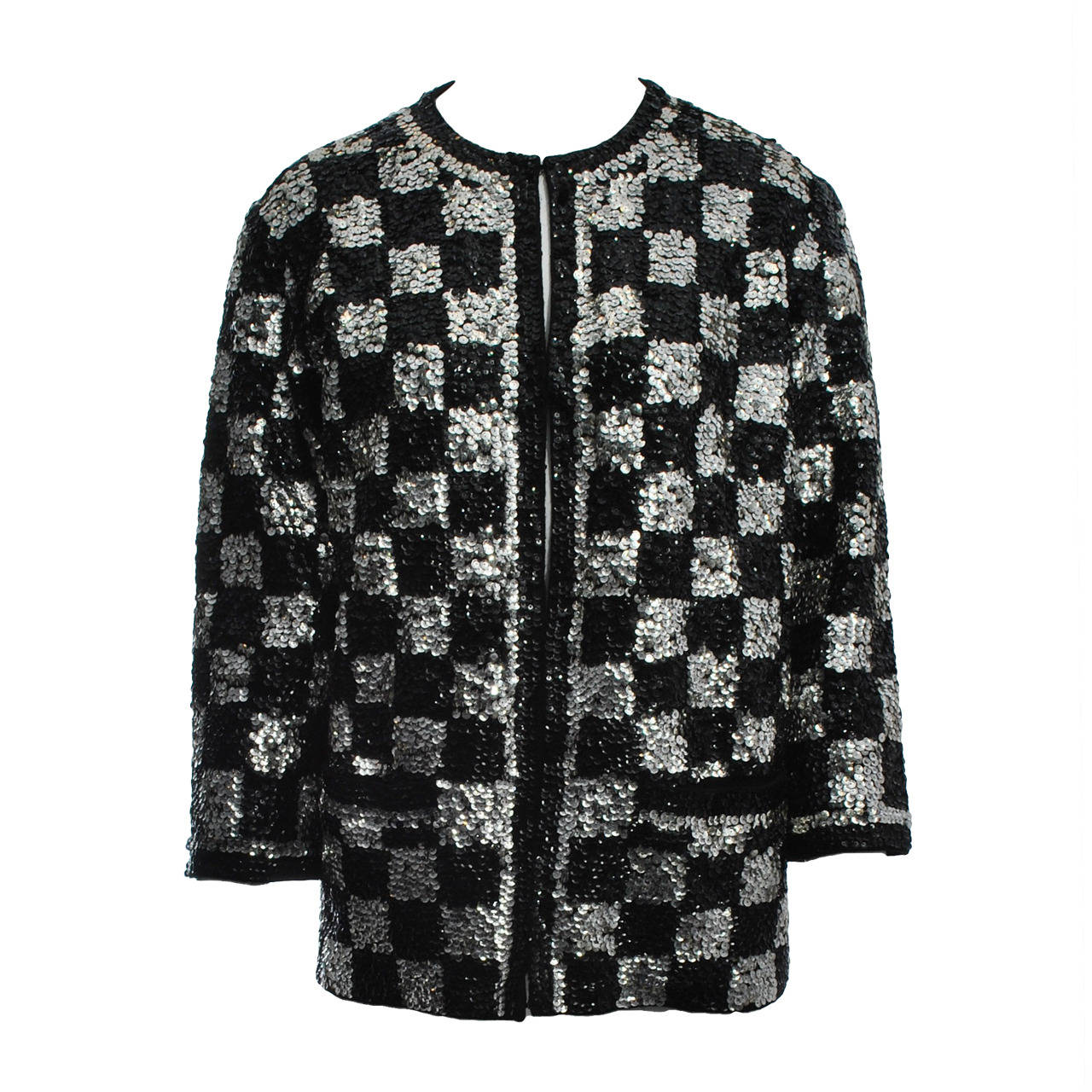 Black/Silver Sequin Cardigan 1