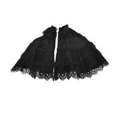 Edwardian Black Lace Capelet