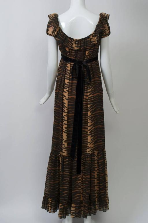 Anne Fogarty  Print Maxi Dress 5