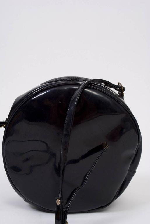 Black 1980s Clock Shoulder Bag For Sale