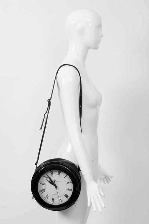 1980s Clock Shoulder Bag For Sale 5