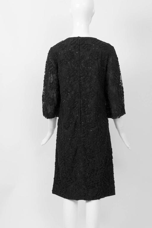 Women's Beaded Lace 1960s Sheath For Sale