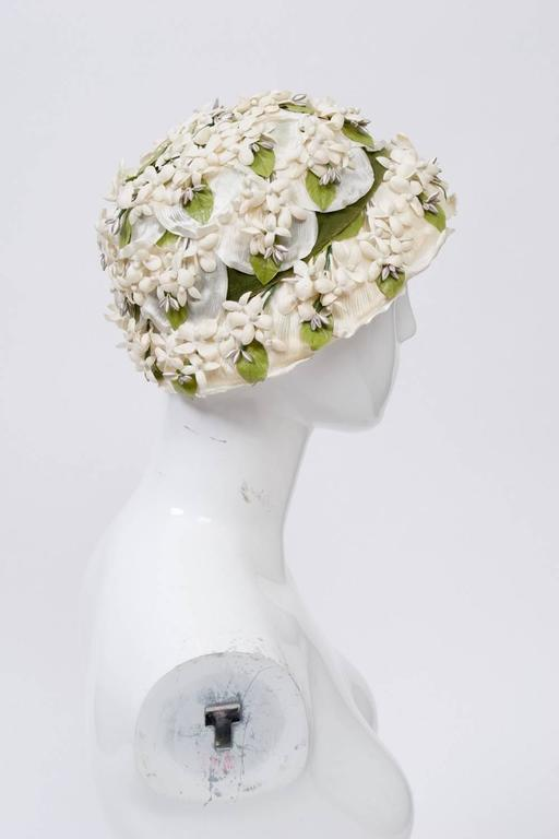 White Flower Hat 2
