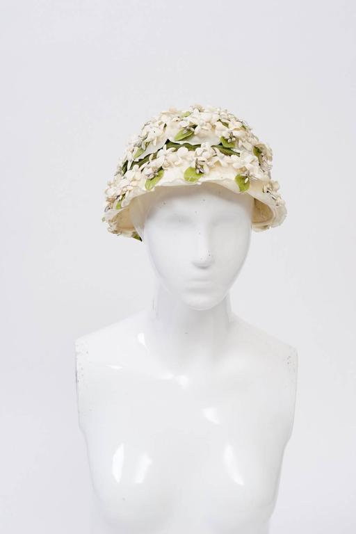 White Flower Hat 3