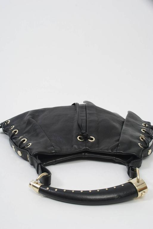 YSL Black Leather Bag 3