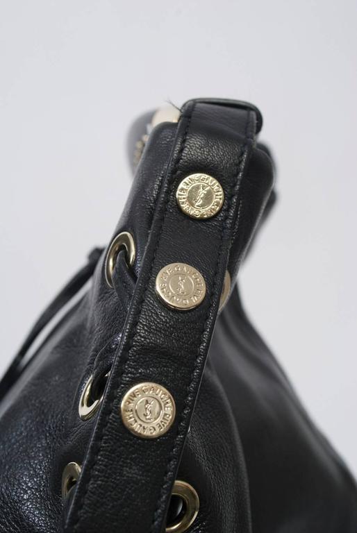YSL Black Leather Bag 6