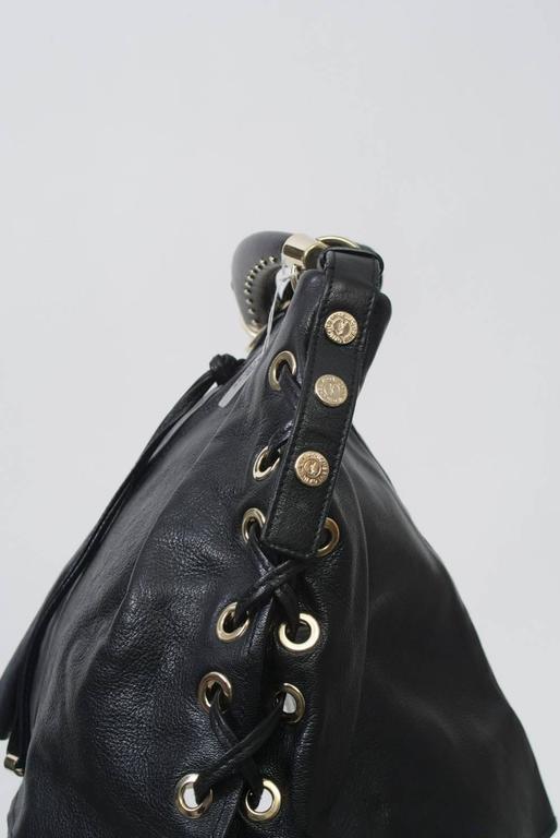 Ysl Black Leather Bag For Sale At 1stdibs