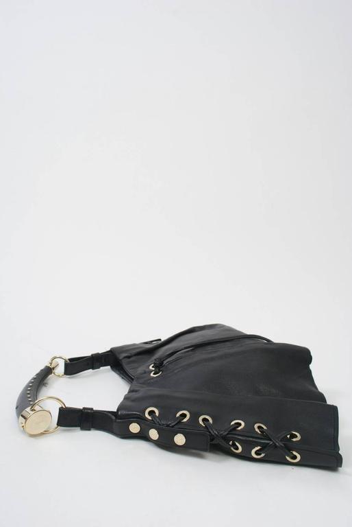 YSL Black Leather Bag 5
