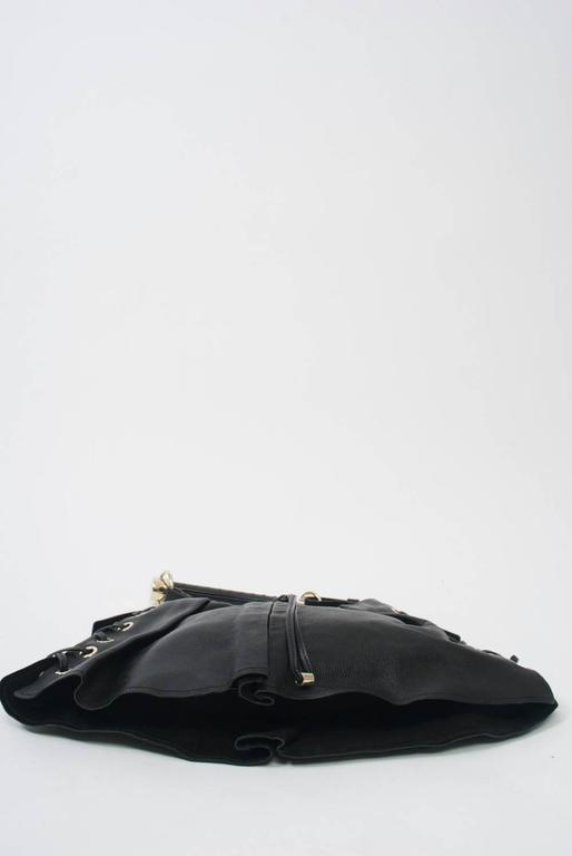YSL Black Leather Bag 8
