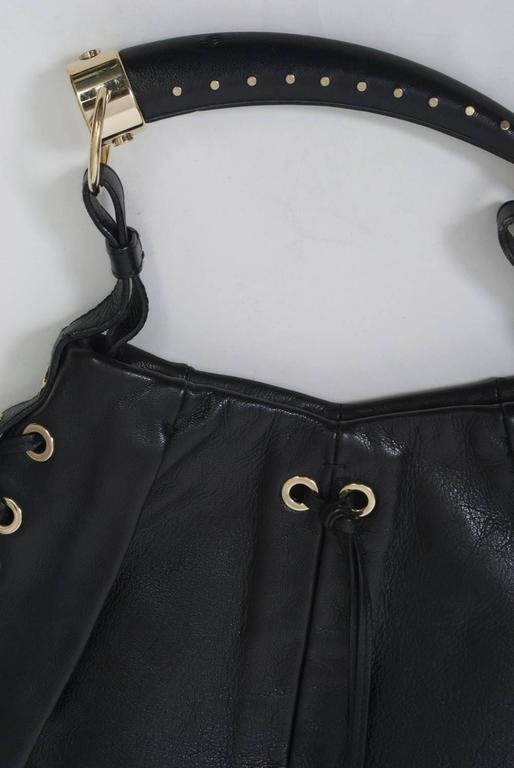 YSL Black Leather Bag 9