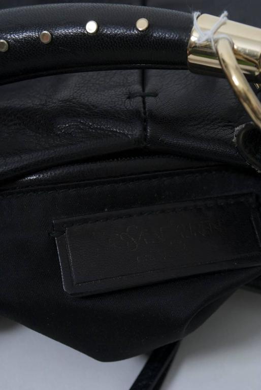YSL Black Leather Bag 10