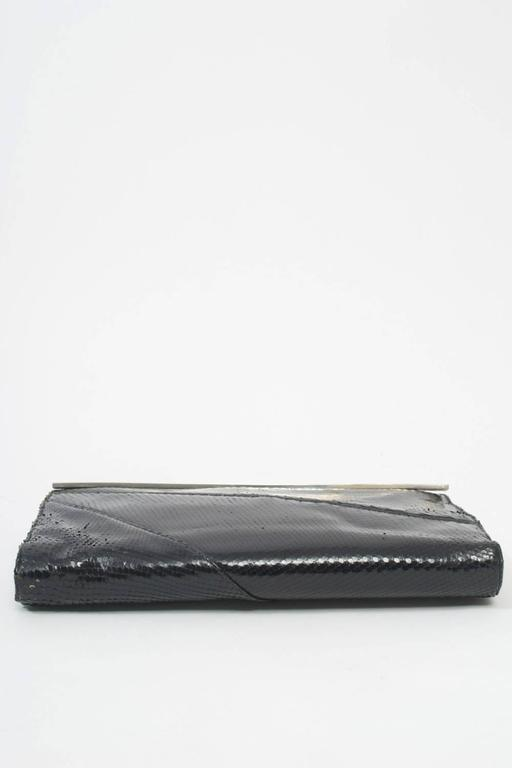 1970s Black Snake Clutch In Excellent Condition For Sale In Alford, MA