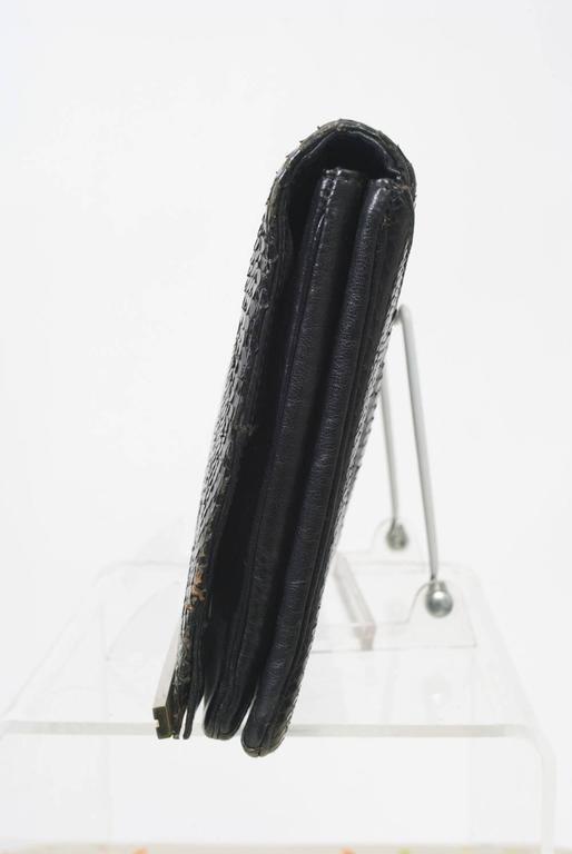 1970s Black Snake Clutch For Sale 1