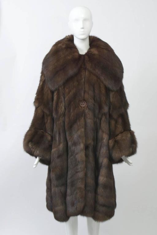 Fendi Sable Swing Coat At 1stdibs