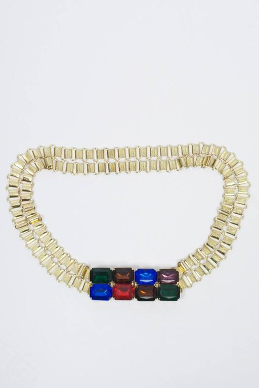 Link Belt with Multi-Stone Clasp 2