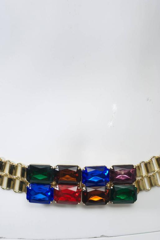 Link Belt with Multi-Stone Clasp 4