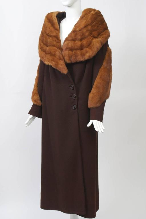 1930s Fur Trimmed Coat For Sale 1