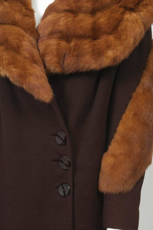 1930s Fur Trimmed Coat For Sale 3
