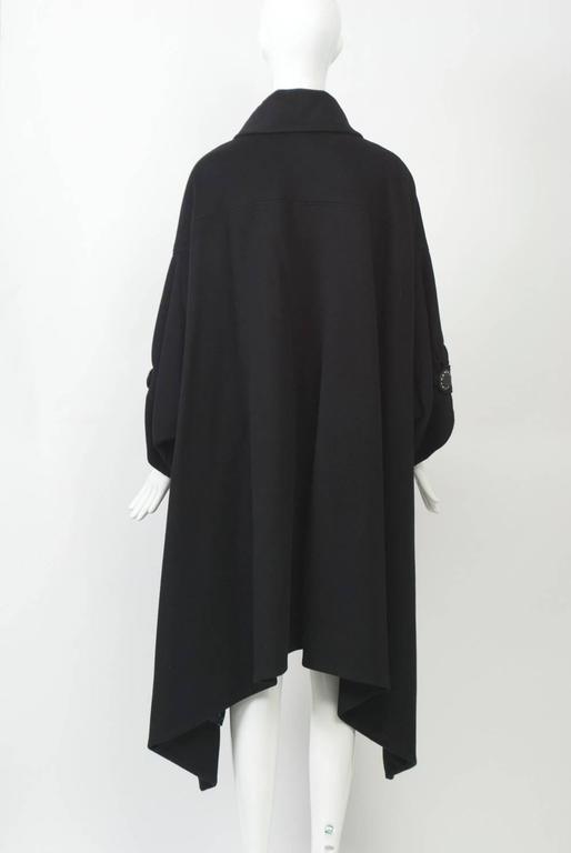 Kenzo Black Cashmere Coat For Sale 1
