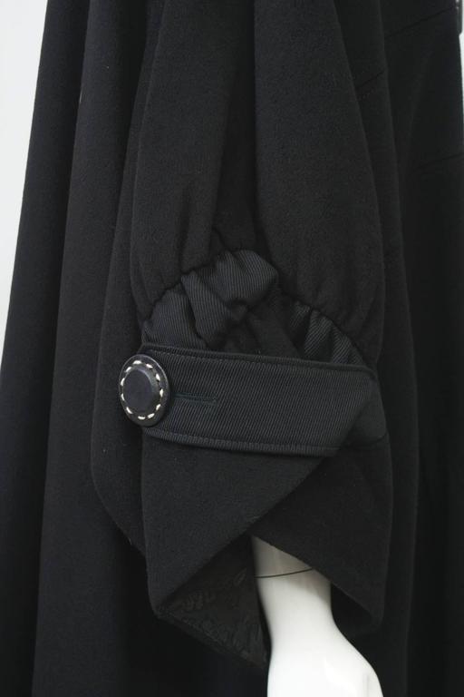 Kenzo Black Cashmere Coat For Sale 2