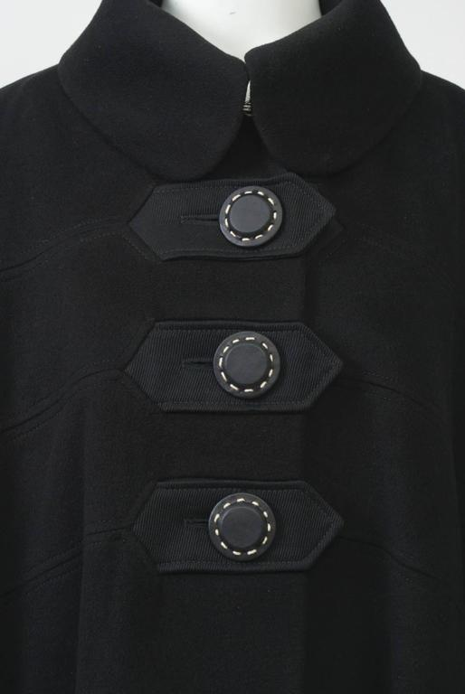 Women's Kenzo Black Cashmere Coat For Sale