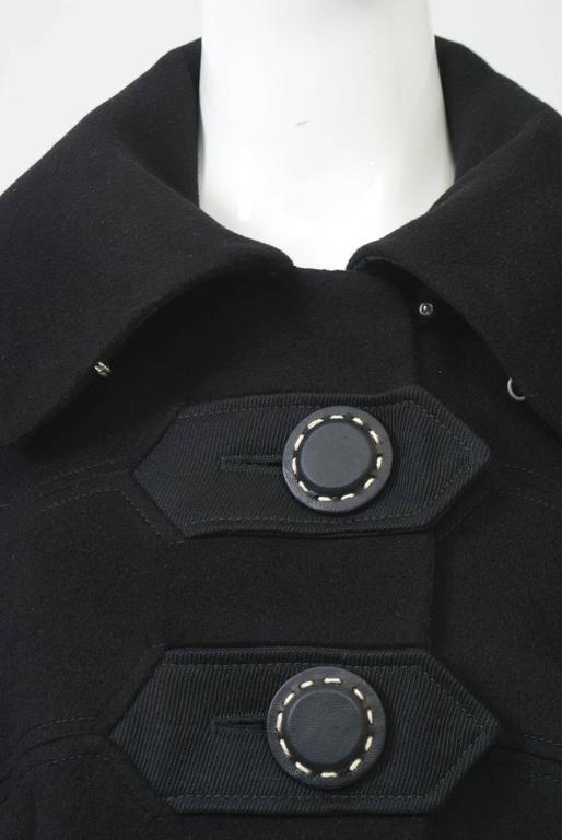 Kenzo Black Cashmere Coat For Sale 3