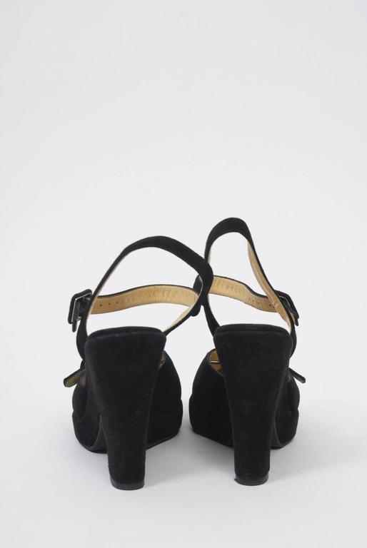 Dolce & Gabbana Black Suede Platform Shoes 6