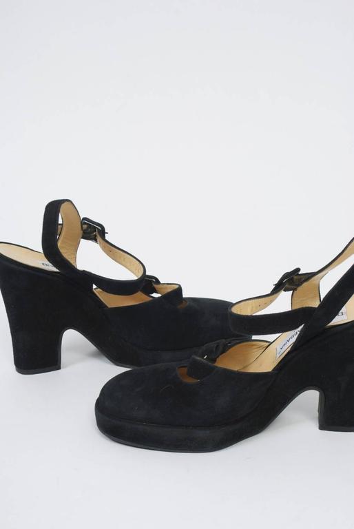 Dolce & Gabbana Black Suede Platform Shoes 4
